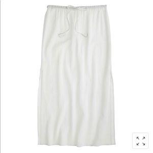 J. Crew white linen skirt